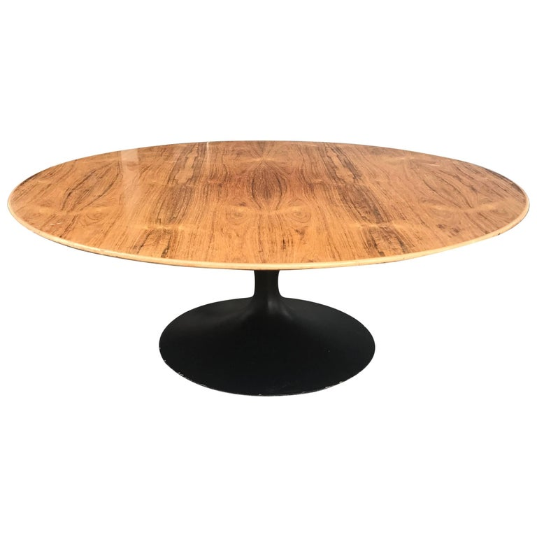 Early Eero Saarinen for Knoll Rosewood Tulip Coffee Table For Sale