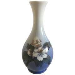 Royal Copenhagen Vase #53/57 with Flower Motif