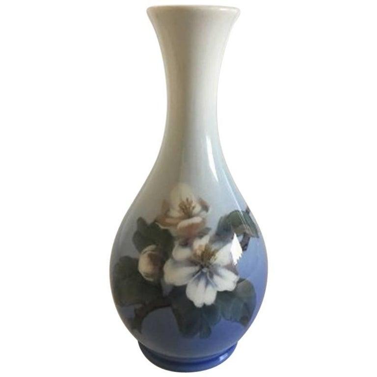 Royal Copenhagen Vase 5357 With Flower Motif For Sale At 1stdibs