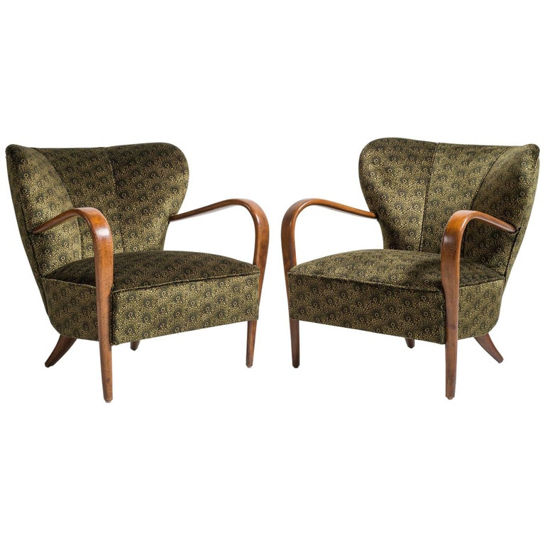 Pair of Deco Armchairs, Italy circa 1930 For Sale