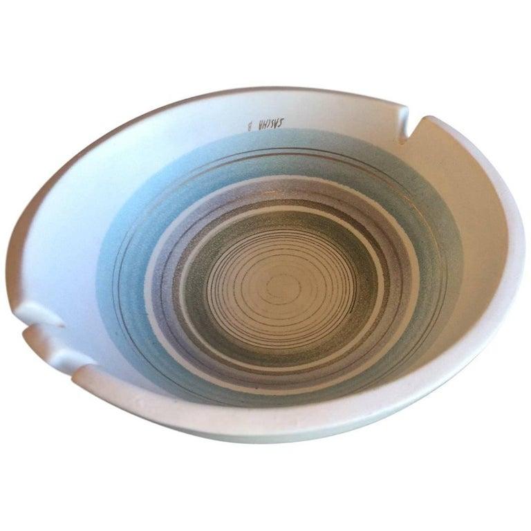 Midcentury Atomic California Pottery Ashtray by Sascha Brastoff