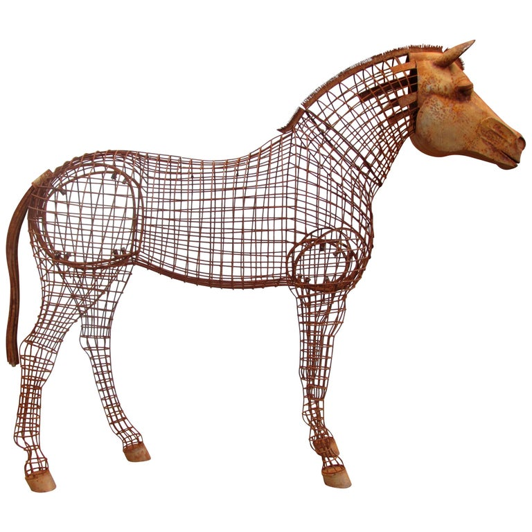 Life Size Horse Topiary Sculpture Form For Sale