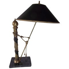 Neoclassic Desk Lamp, Antique  Black and Gold Desk or table Lamp