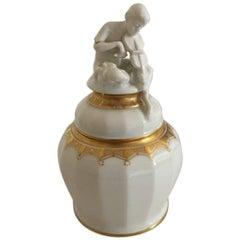 Bing & Grondahl Hans Tegner Lidded Vase with Faun #3172/1161