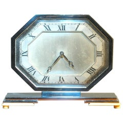 High Quality and Elegant Art Deco English Desk Clock, 1930s