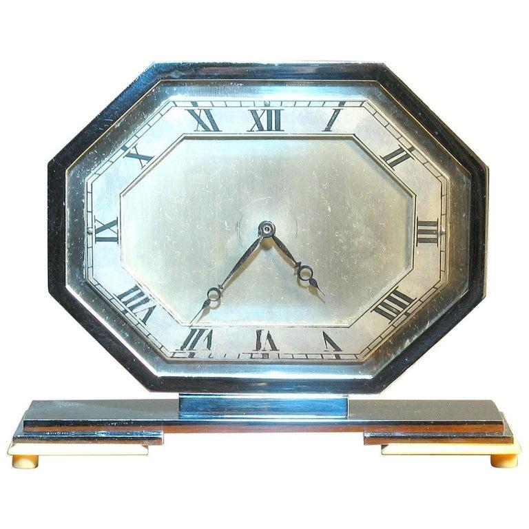 High Quality and Elegant Art Deco English Desk Clock, 1930s