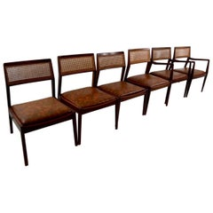 Set of Six Risom Dining Chairs