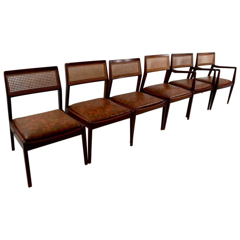 Set of Six Risom Dining Chairs For Sale