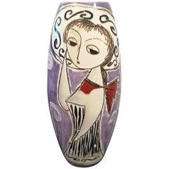 Marcello Fantoni Rare Figurative Ceramic Vase, circa 1950