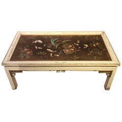 A 1920s Period lacquered & painted Oriental coffee table