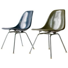 Pair of Charles Eames Shell Chairs with Lounge Base