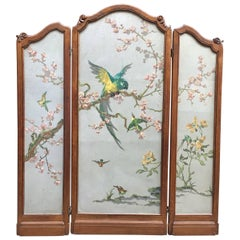 1930s Japonisme Flora and Fauna Room Divider