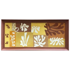 1950s Matisse Inspired Leaf Painting