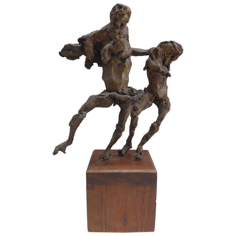 Linda Goodman Bronze Figurative Sculpture For Sale