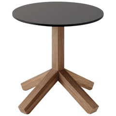 Roda Root 045 Outdoor Side or Coffee Table in Teak with Stone or Grey HPL Top