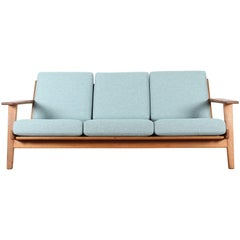 Scandinavian Sofa, GE-290 by Hans J. Wegner for Getama, Three-Seat