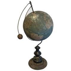 19th Century Globe with Moon