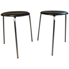 Pair of Arne Jacobsen for Fritz Hansen Dot Stools