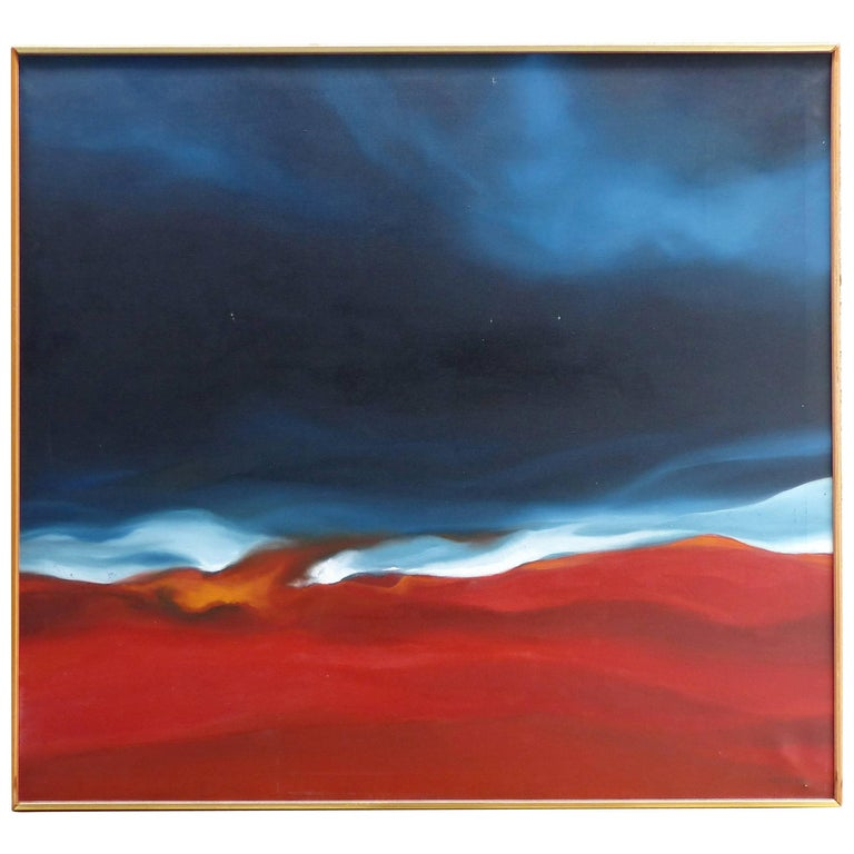 Overscale Abstract Oil Painting by John Currant, 1968