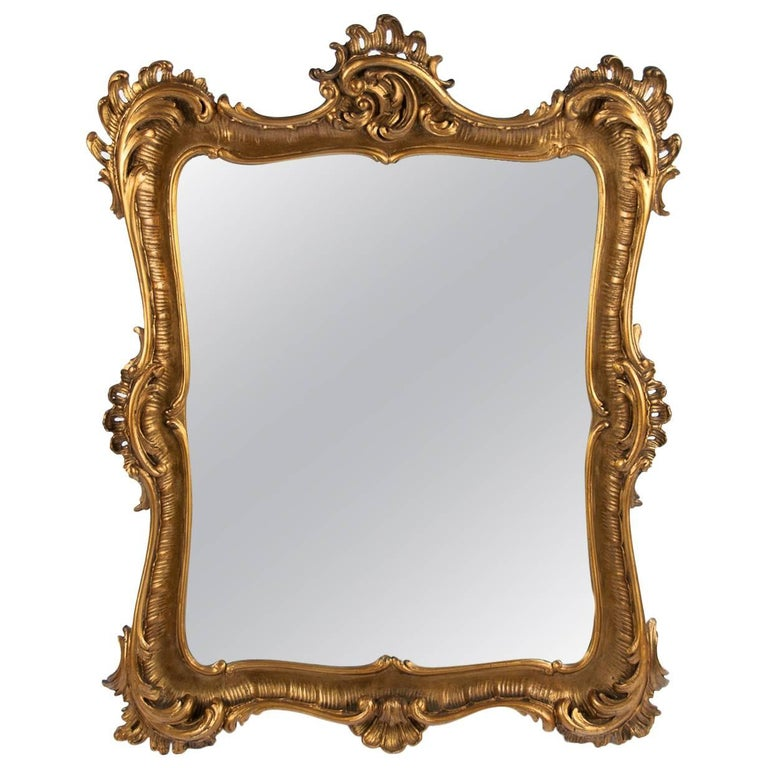Carved Giltwood 19th Century Mirror