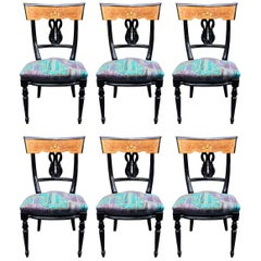 Six Neoclassical chairs circa 1970