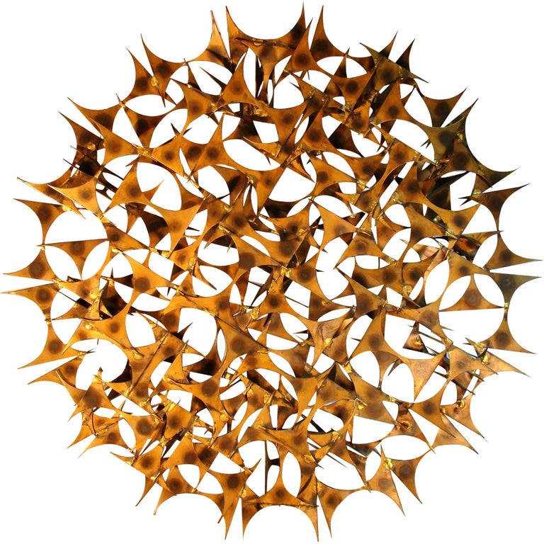 Modernist Brutalist Multidimensional Starburst Sculpture by Marc Weinstein