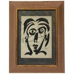 Peter Keil Expressionist Face Portrait 'Studio Miro'