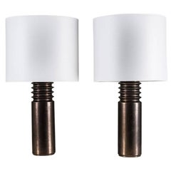 Pair of Swedish Ceramic Table Lamps by Luxus