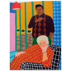 'His and Hers' Portrait Painting by Alan Fears Pop Art