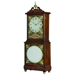 Fine Federal Mahogany and Eglomise Shelf Clock, Aarron Willard, c.1820