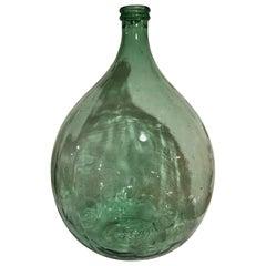 Extra-Large Hand Blown Glass Balloon Demijohn Translucent