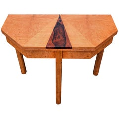 English 1930's Art Deco Console /Breakfast  Table