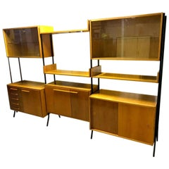 Mid-Century Modern Beech Unit Shelf System by Frantisek Jirák for Tatra, 1960s