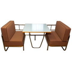 Exceptional Functionalist Multipurpose Seating Set-Sofa Bed, 1950s