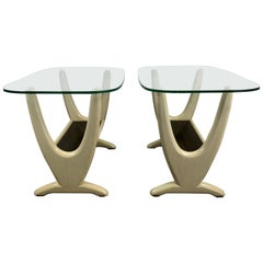 Pair of Midcentury End Tables with Planters by Adrian Pearsall