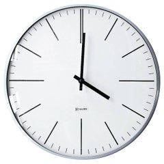 Mid-Century Schauer Slim-Line Station Clock, 1970s Austria
