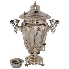 Russian Silver Plate Samovar