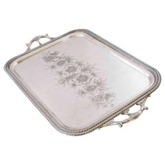 Victorian Butler Tray with Handles