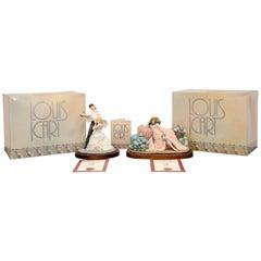 "Pair of Porcelain Icart Figurines ""Don Juan"" 1928 and ""Les Hortensias"", 1929"
