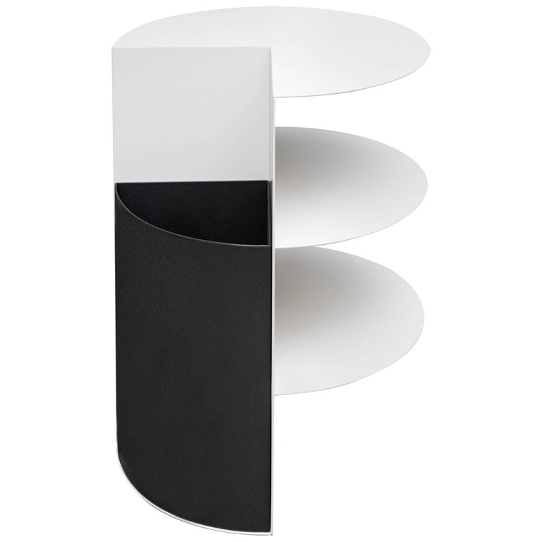 Total Garbage Side Table or End Table by Birnam Wood Studio, Powdercoated For Sale