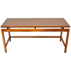 Jens Risom Walnut Console Table