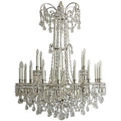 Magnificent 19th Century Signed Baccarat Silvered Bronze and Crystal Chandelier