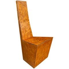 Stylish Italian veneered chair, 1970´s