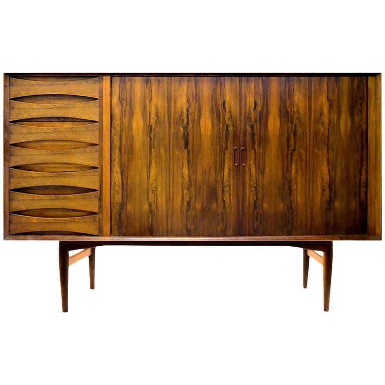 Rosewood Buffet or Sideboard by Arne Vodder for Sibast