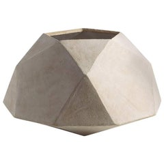 'Geode' Geometric White Ceramic Large Vessel