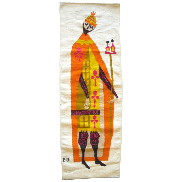 Evelyn Ackerman Wall Tapestry, Wool, Label, Signed For Sale
