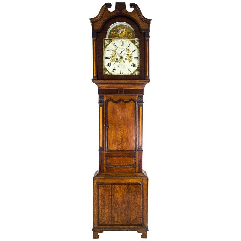 Antique Long Case Clock, Grandfather Clock, John Parry Tremadoc, 1820