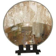 Large Industrial Lighthouse Mirror Optic Lens Sculpture