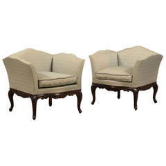 Pair of French Bergere Armchairs