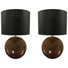 Pair of Laurel 1970s American Space Age Table Lamps